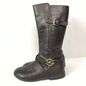 MICHAEL KORS Brown Emma Louise Girl's Boots Size 3